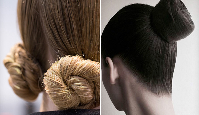 Le chignon de danseuse: Paris Fashion Week 2016 2017