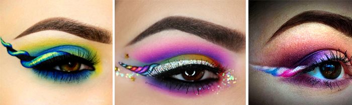 La tendance makeup Unicorn eyeliner