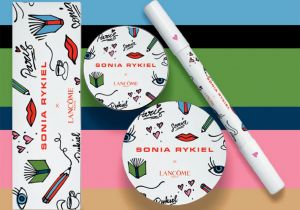 Le packaging de la collection de la maison Lancôme et Sonia Rykiel