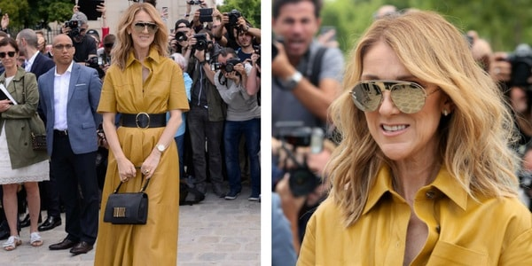 Céline Dion, une star au défilé Dior à  la Fashion Week Paris