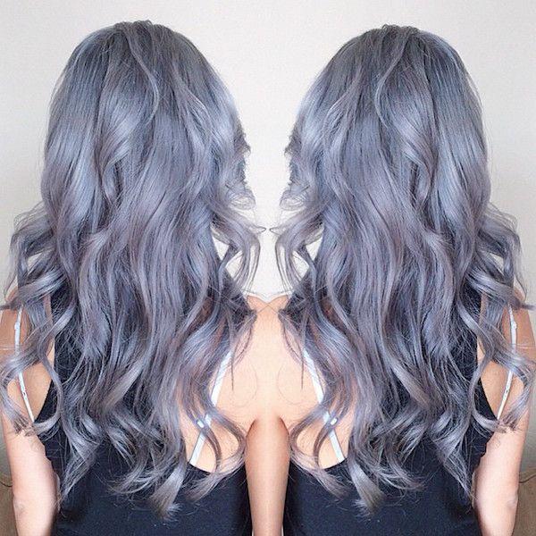 Couleur cheveux gris mauve