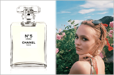 chanel choisit lily rose depp pour incarner n 5 l 39 eau de chanel. Black Bedroom Furniture Sets. Home Design Ideas