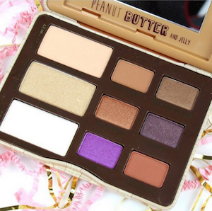 palette peanut butter and jelly de too faced