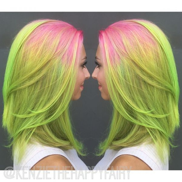 Tendance Watermelon Hair sur instagram
