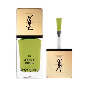 Le vernis Laque Couture teinte Green Jungle de la collection Solar Pop d'Yves Saint Laurent