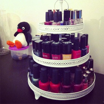 Id es d co pour am nager son coin beaut for Meuble rangement vernis a ongles