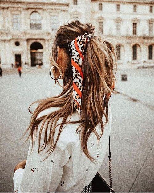 Le foulard habille votre queue-de-cheval ! f0ebdee8f5d