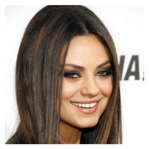 coupe de cheveux pour visage carré Mila Kunis