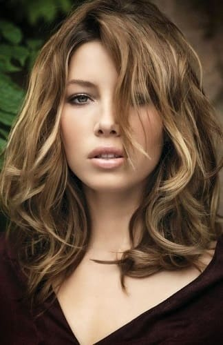 la coloration bronde de jessica biel