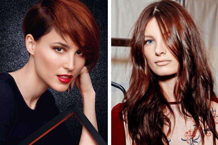 Couleur cheveux brun roux