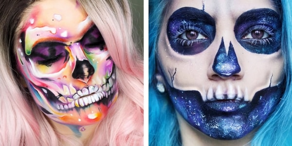 Maquillage halloween tete de mort interesting morts kit de maquillage squelette mexicain pour - Maquillage squelette mexicain ...
