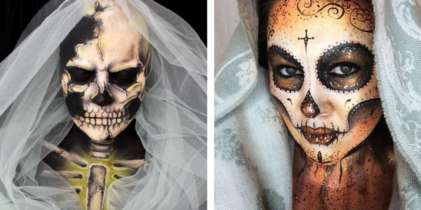 Marie Morte Halloween Good Incredible Skull Make Up With Marie