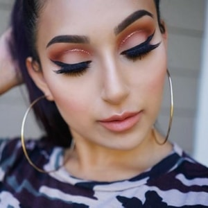 Maquillage cut crease avec la palette Naked Heat