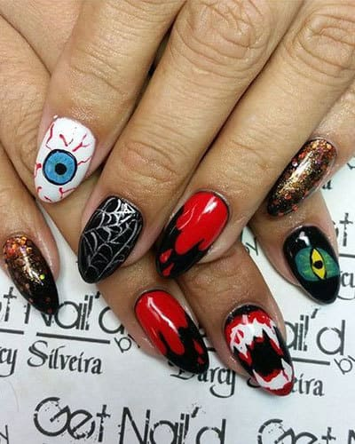Un nail art horrifique pour Halloween