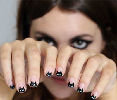 Les meilleurs nail art pour halloween - Nail art chat ...