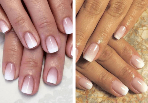 French manucure gel ombrée