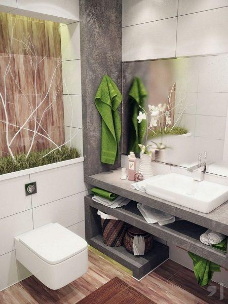 un jardin nature dans sa salle de bain - Photo Salle De Bain Zen Et Nature