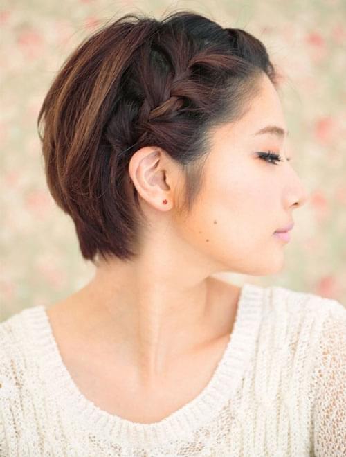 coiffure tresse pour cheveux court