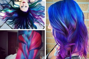 Galaxy hair, la nouvelle tendance coloration cheveux