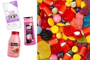 gels douche gourmands